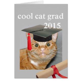 Akademiker kall katt hälsningskort