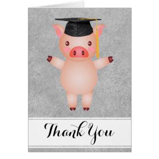 Akademikert tack för gris hälsningskort
