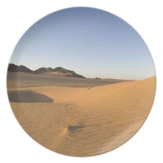 Akakus Sahara öken, Fezzan, Libya. Dinner Plate