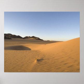 Akakus Sahara öken, Fezzan, Libya. Poster