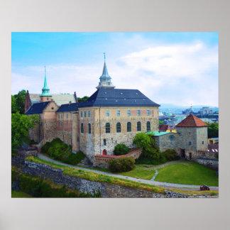 Akershus fästning i Oslo, norge