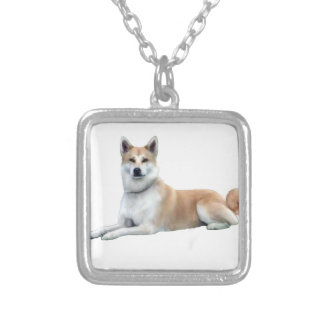 Akita (Akita Inu) - ljuga besegrar Silverpläterat Halsband