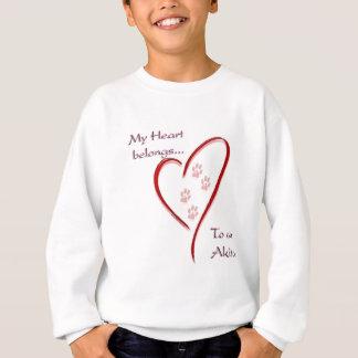 Akita hjärtatillhör tröja