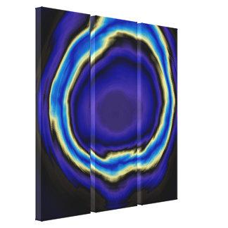 Akryl för blåttspiralabstrakt som målar 2 canvastryck