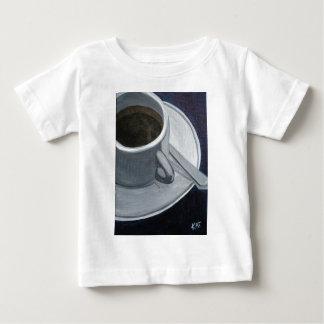 Akrylen för kaffe 5x7 på kanfas stiger ombord, t-shirt