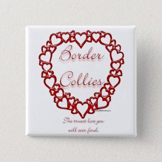 Äkta kärlek gränsCollie Standard Kanpp Fyrkantig 5.1 Cm