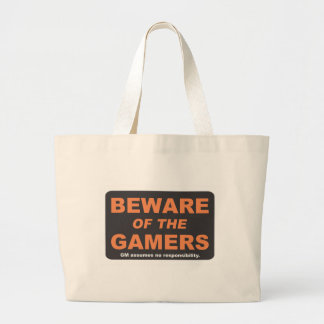 Akta sig av gamersna jumbo tygkasse