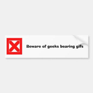 Akta sig av geeks uthärda gifs bildekal