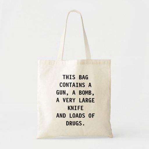 Akta sig av hänga lös tote bags