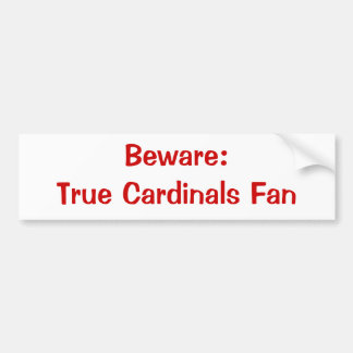 Akta sig: Kardinalfläktbildekal Bildekal