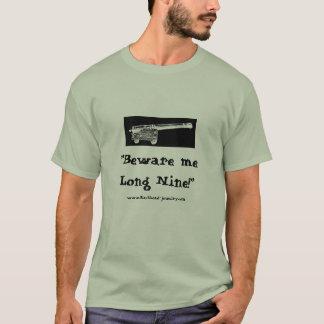 """Akta sig mig Long nio!"", - Grått T Shirt"
