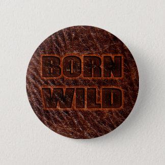 Äktat läder för född vild standard knapp rund 5.7 cm