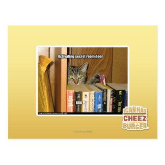 Aktivera den hemliga rumdörren vykort