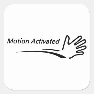 Aktiverad rörelse fyrkantigt klistermärke