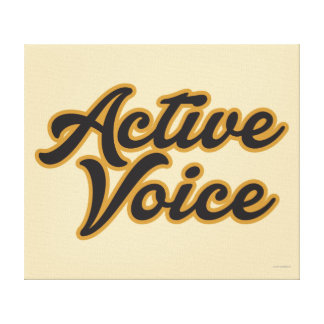 Aktivet uttrycker canvastryck