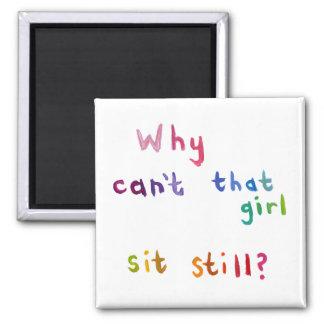 Aktivflickor kan inte sitta stilla upptagen kvinna magneter för kylskåp