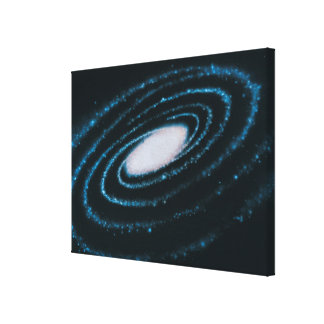 Aktivgalaxer Sträckt Canvastryck