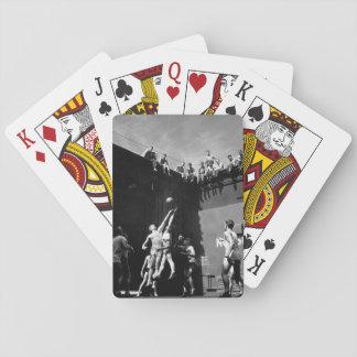 Aktiviteter USS MONTEREY_War avbildar ombord Spel Kort