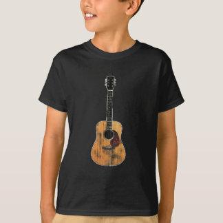 Akustisk bedrövad gitarrlodrät tee shirt