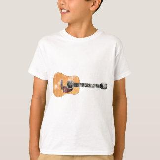 Akustisk (bedrövad) gitarrvågrät, t shirts