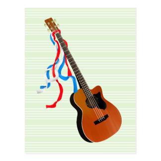 Akustisk elbasamerikanmusik vykort