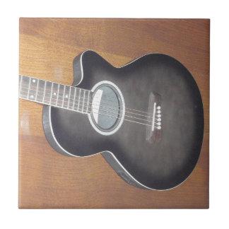 Akustisk elektrisk gitarr kakelplatta