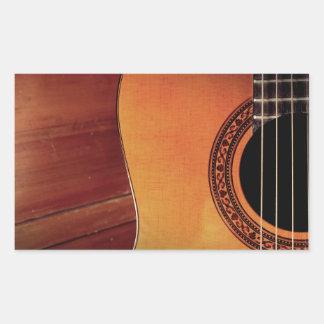 Akustisk gitarr retangel klistermärke