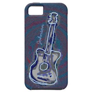 akustisk gitarr för personligblått iPhone 5 skydd