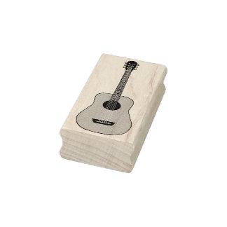 Akustisk gitarr gummistämpel