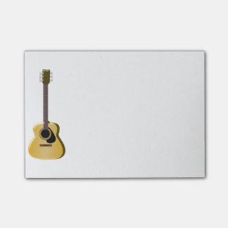 Akustisk gitarr post-it lappar
