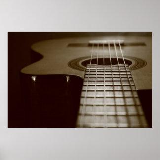 Akustisk gitarr poster