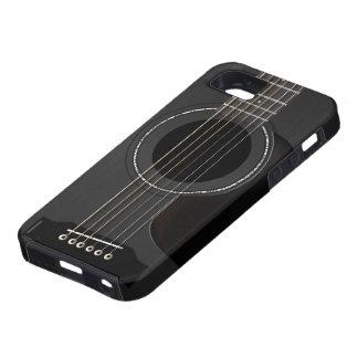 Akustisk gitarrsvart iPhone 5 fodral