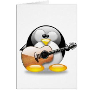 Akustisk gitarrTux (Linuxtuxen) Hälsningskort