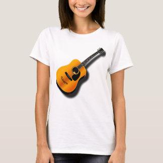 Akustisk vintagegitarr med tee shirt