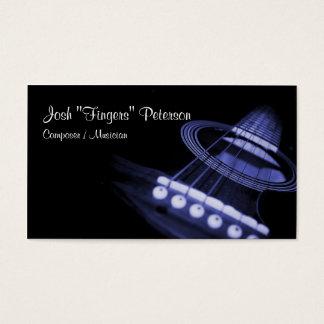 Akustisk visitkort för gitarrmusikerblått