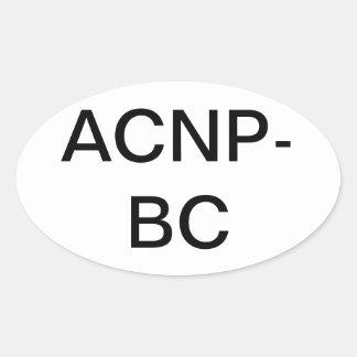 Akut omsorgsjuksköterskaklistermärke ovalt klistermärke