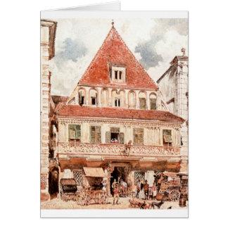 Akvarell av Steyr Bummerlhaus av Rudolf von Alt Hälsningskort