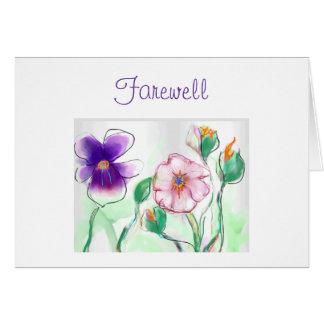 AkvarellFlowers>Farewell kort