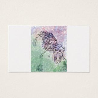 Akvarelllilor/grönt för varg skelett- visitkort