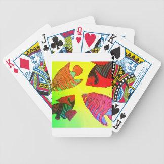 Akvarium i briljant färger spelkort