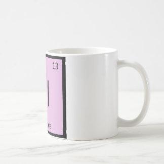 Al - symbol för bord för Albacoretonfiskkemi Kaffemugg