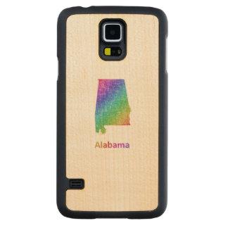 Alabama Carved Lönn Galaxy S5 Skal