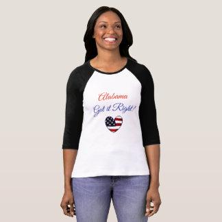 Alabama fick det högert, det Moore Jones valet Tee Shirt