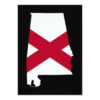 Alabama flaggafärger 12,7 x 17,8 cm inbjudningskort