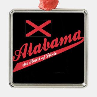 Alabama hjärta av Dixie Julgransprydnad Metall