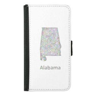 Alabama karta samsung galaxy s5 plånboksfodral