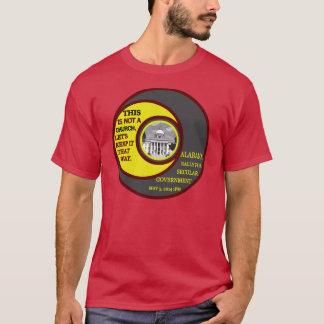Alabama samlar för den röda sekulära regerings- tee shirt