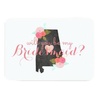 Alabama som statligt bröllop ska dig, är min 8,9 x 12,7 cm inbjudningskort