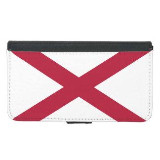 Alabama statlig flagga plånboksfodral för samsung galaxy s5