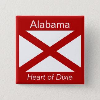 Alabamanflagga knäppas standard kanpp fyrkantig 5.1 cm